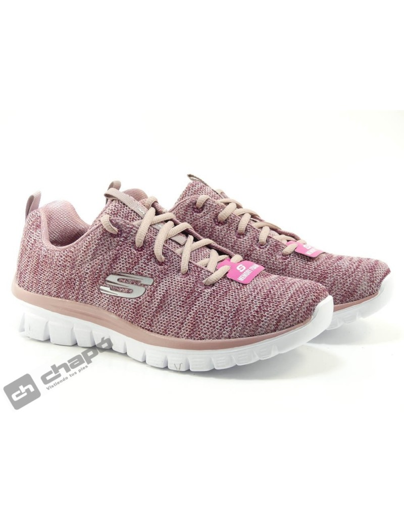 Sneakers Rosa Skechers 12614