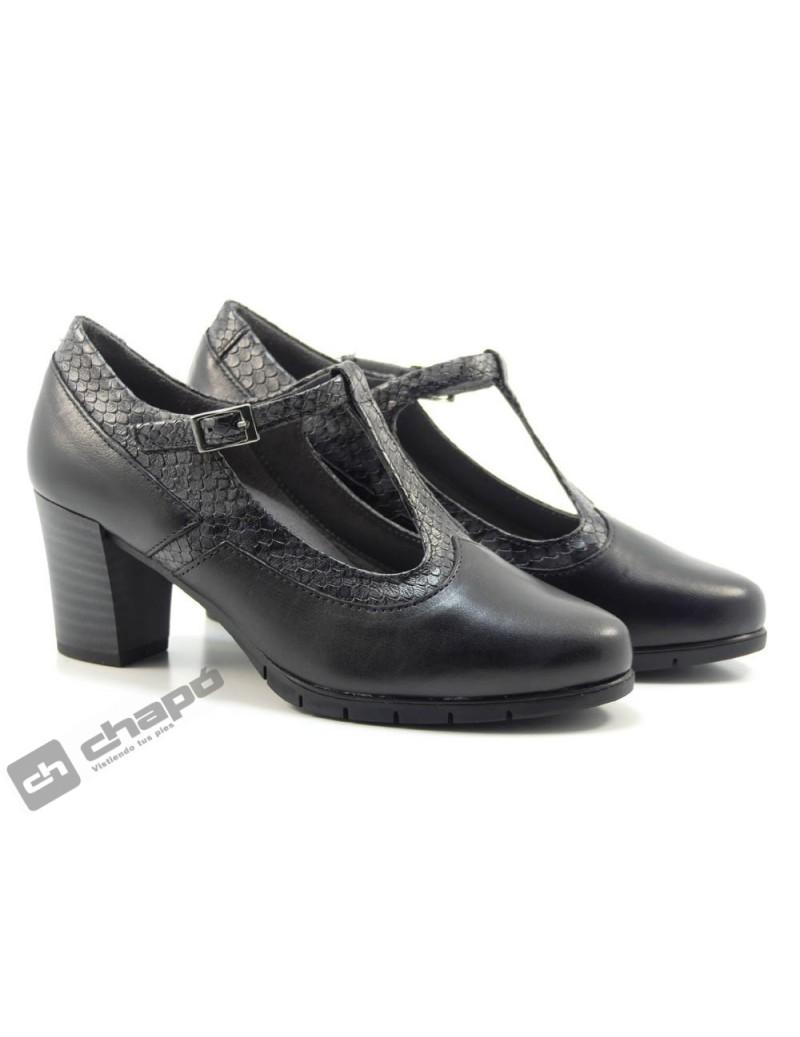 Zapatos Negro Pitillos 6363
