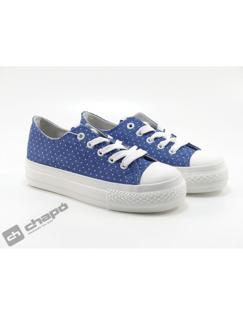Zapato Deportivo Azul Mustang 81195