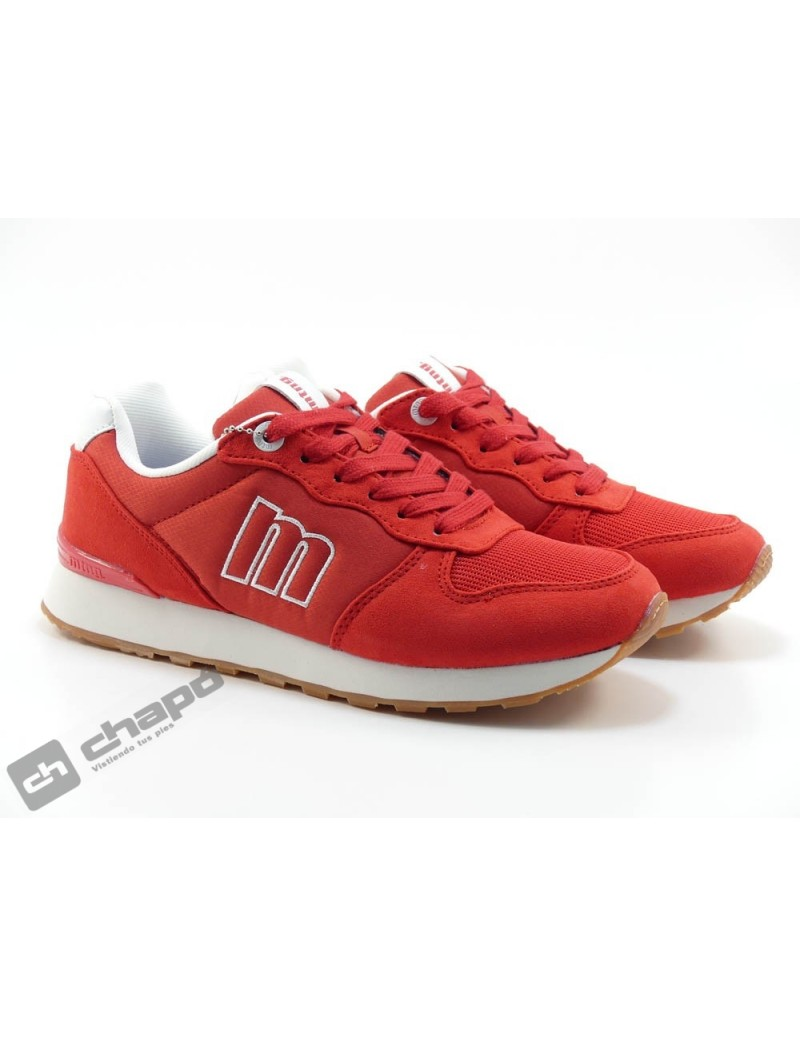 Zapato Deportivo Rojo Mustang 69989