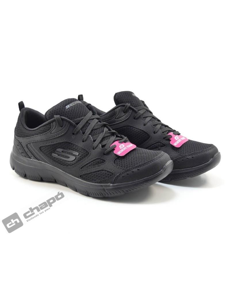 Zapatos Negro Skechers 12982
