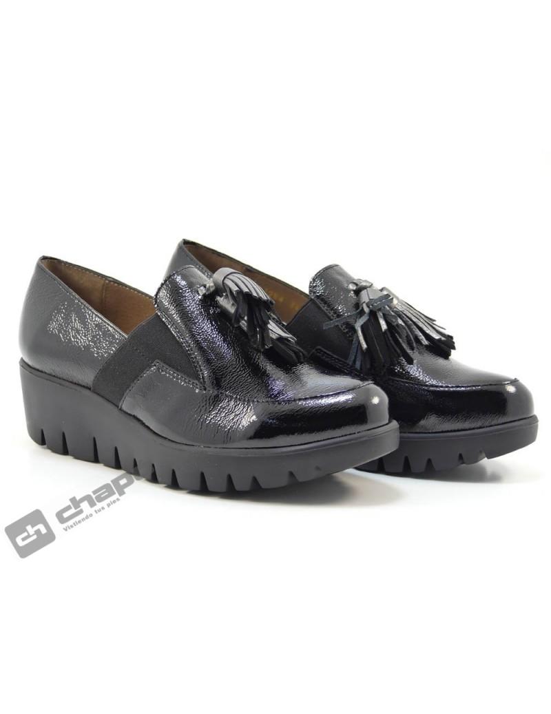 Mocasin Negro Zapatos Wonders C-33254