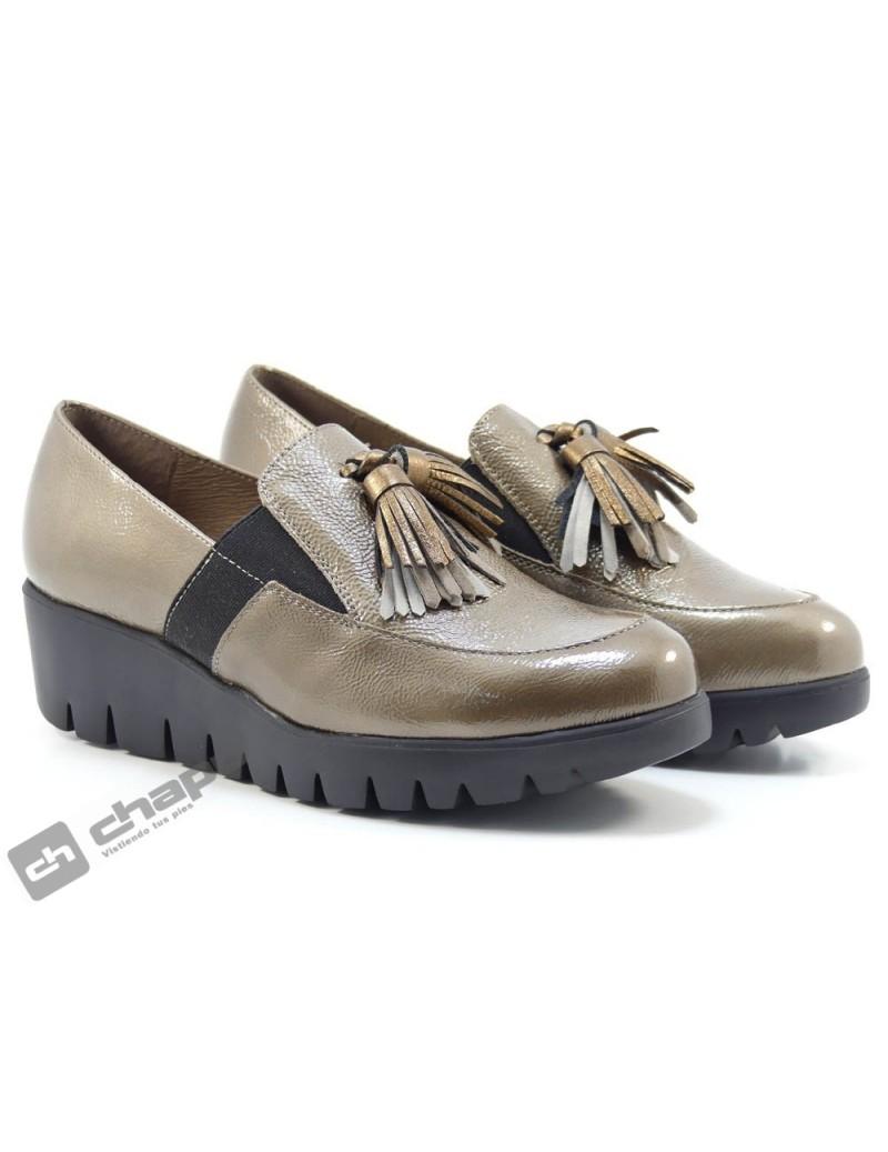 Mocasin Taupe Zapatos Wonders C-33254