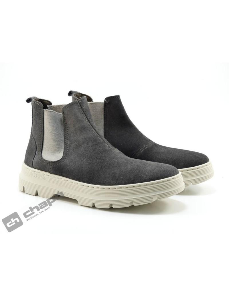 Sneakers Antracita Natural World 7152