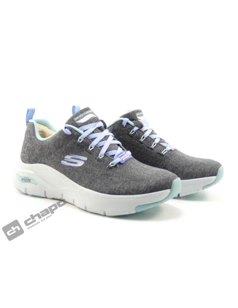 Sneakers Antracita Skechers 149414