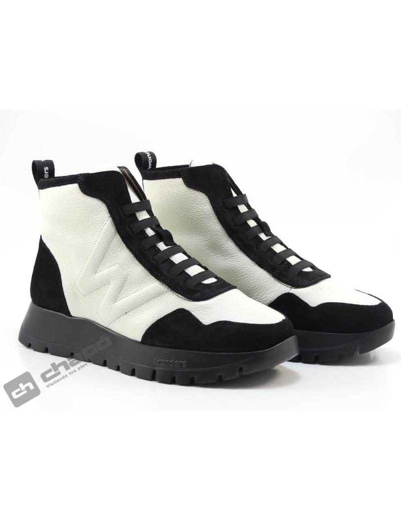 Botines Blanco/negro Zapatos Wonders A-2415