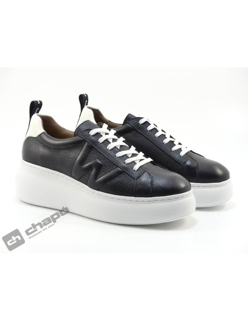 Sneakers Negro Zapatos Wonders A-2603